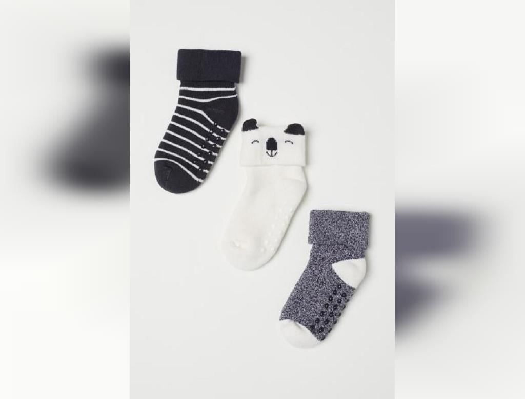 جوراب بافتنی نوزاد ساده