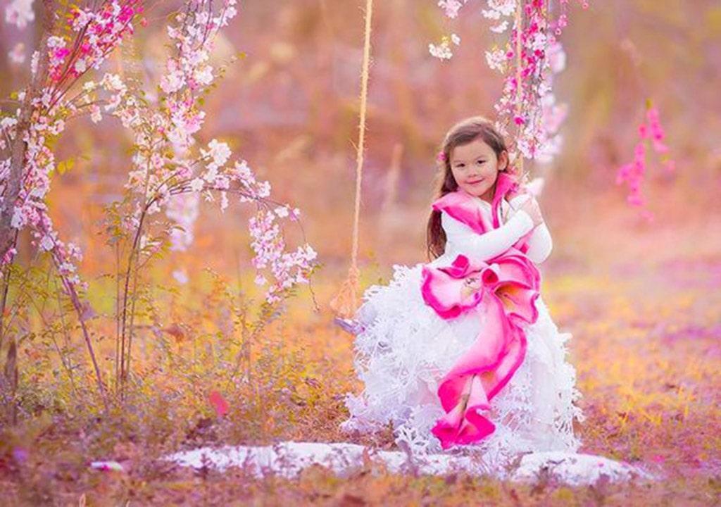 عکس بهاری زیبای دختر بچه