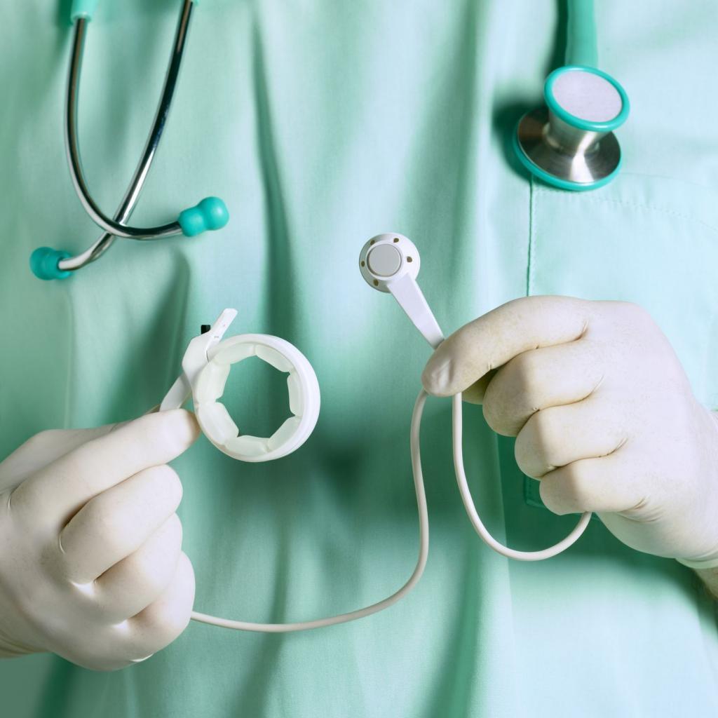 روش جراحی  و قرار دادن حلقه معده