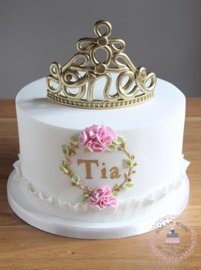 مدل کیک تاج طلایی دخترانه بزرگسال