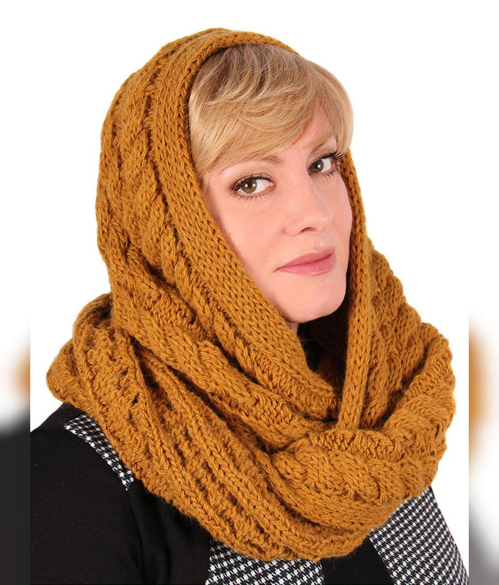 مدل جدید روسری بافتنی ساده با قلاب