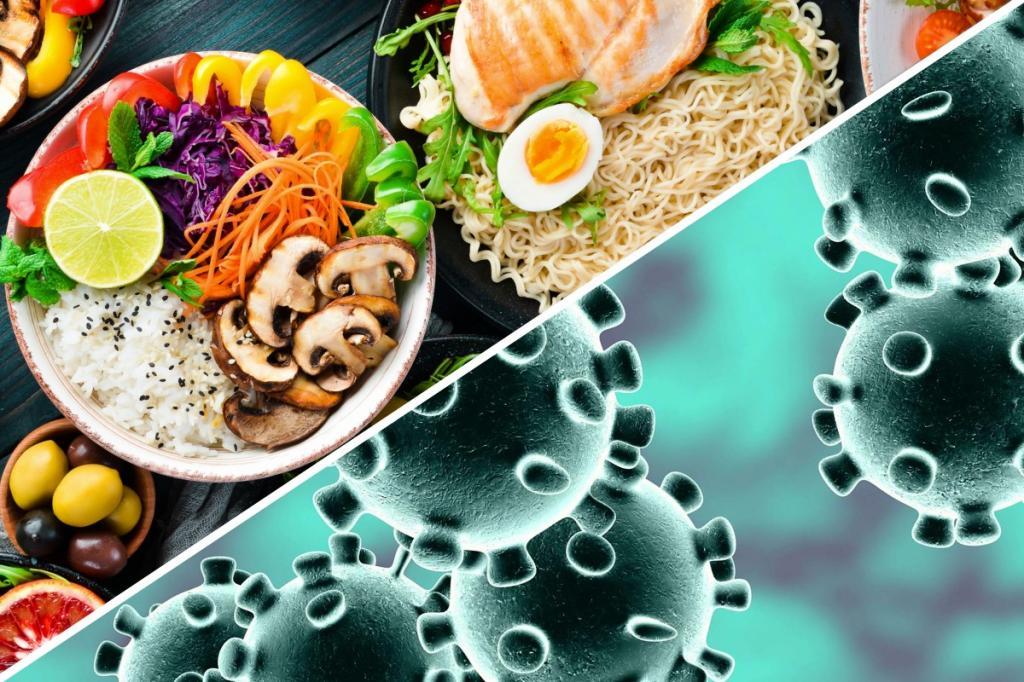 برای محافظت از خود در برابر کووید 19 غذای سالم بخورید
