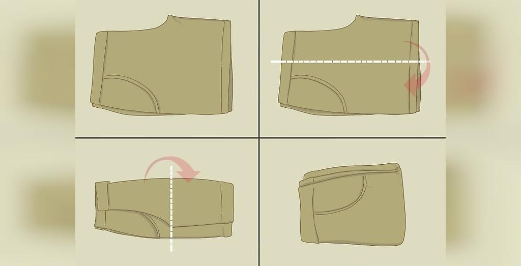 مراحل تا کردن لباس های مختلف