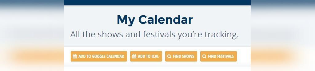 برنامه کنسرت ها در تقویم گوگل