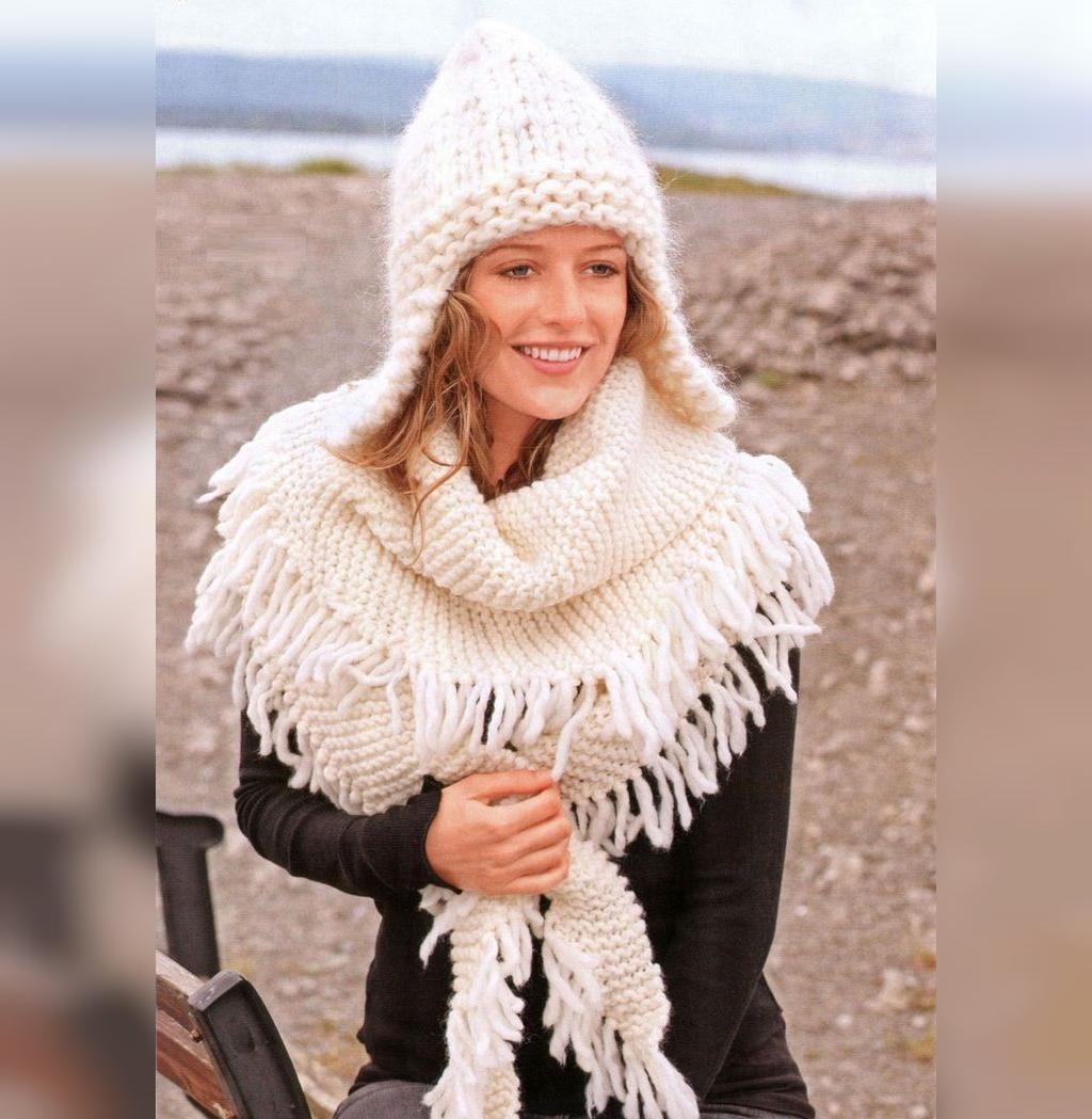 ژورنال کلاه بافتنی گوش دار زنانه