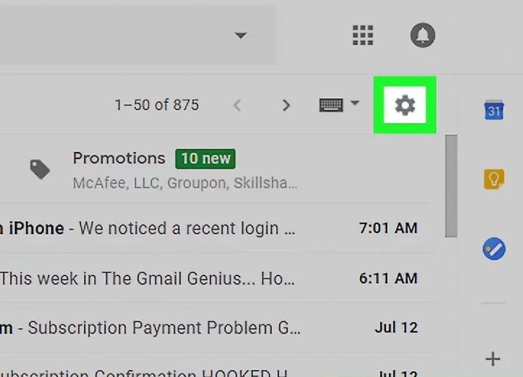 دریافت ایمیل های ارسالی در جیمیل