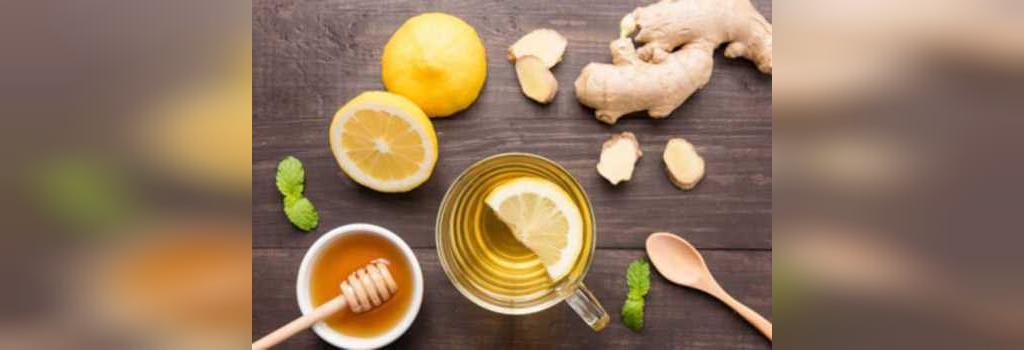 چای زنجبیل ، دارچین ، لیمو و عسل