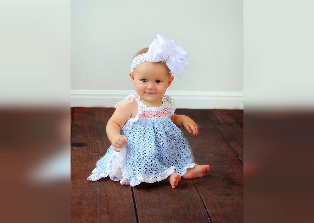 مدل سارافون نوزادی زیبا دخترانه