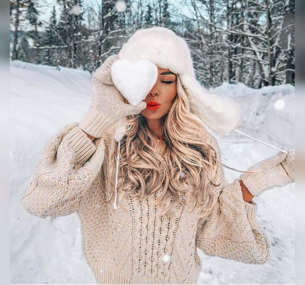 عکس دختر زمستانی اینستاگرامی برای پروفایل