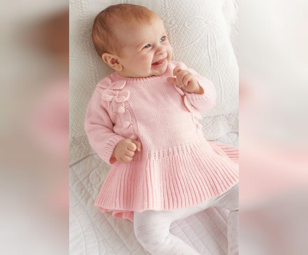 لباس بافتنی نوزاد دخترانه