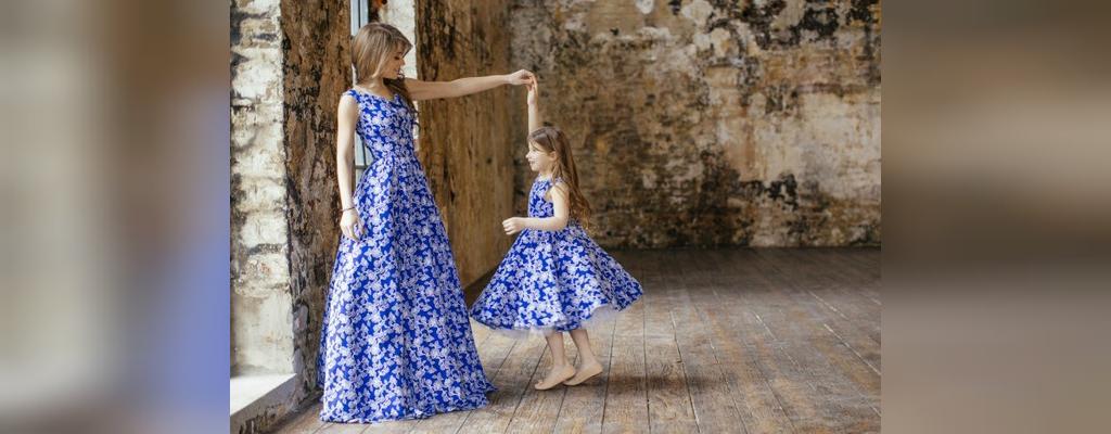 ست لباس مجلسی مادر و دختری
