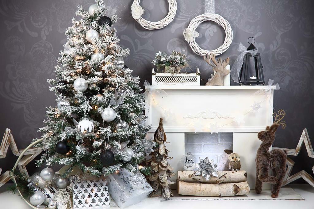 مدل درخت کریسمس سفید و شیک