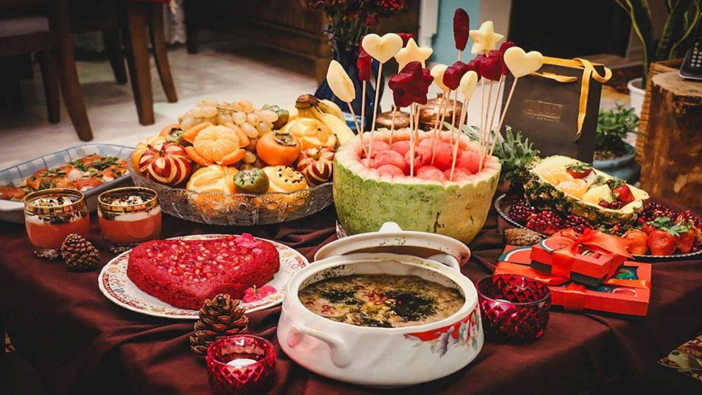 تزیین شب یلدا برای عروس جدید، ساده، سنتی و لاکچری