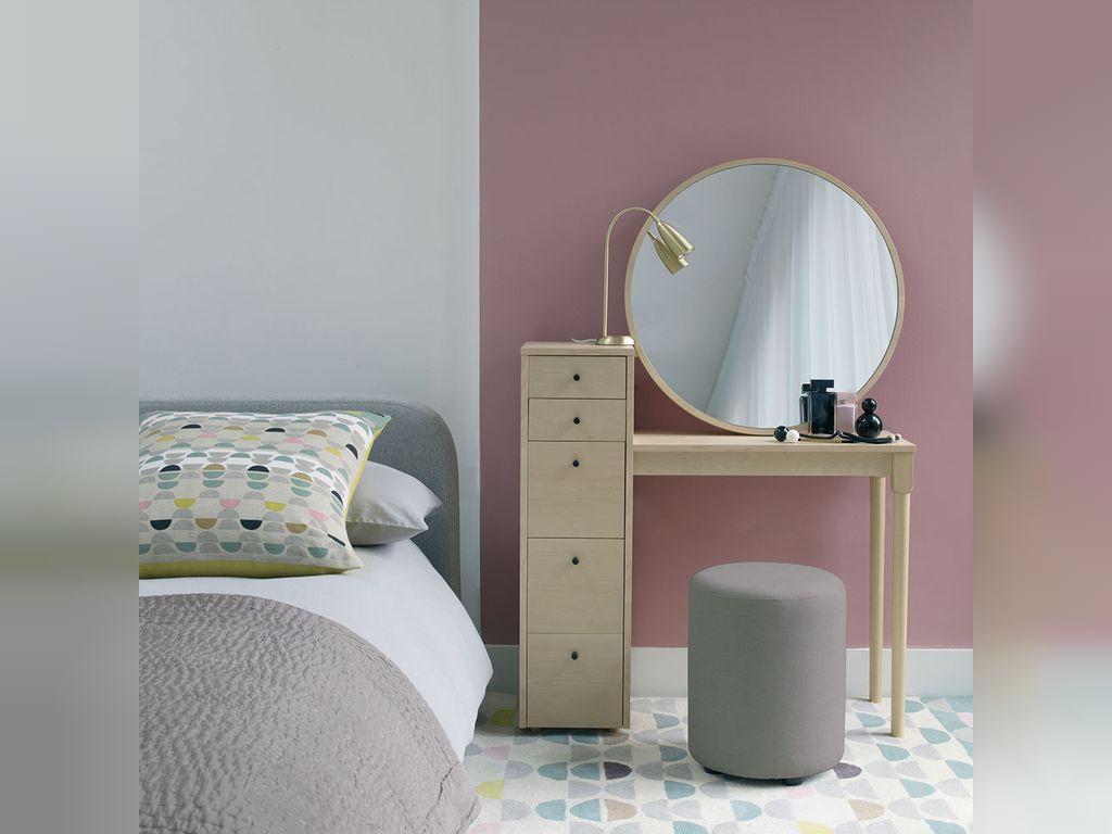 تکنیک های طراحی اتاق خواب صورتی و طوسی