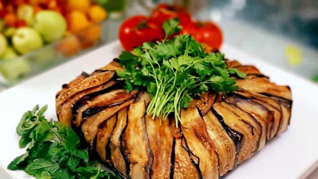 طرز تهیه بادمجان پلو قزوینی خوشمزه و مجلسی اصل با گوشت