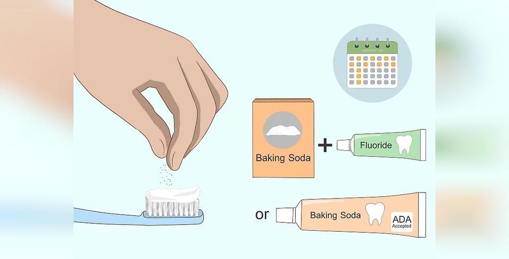 دندان های تان را با ترکیب جوش شیرین و خمیر دندان فلوراید مسواک بزنید