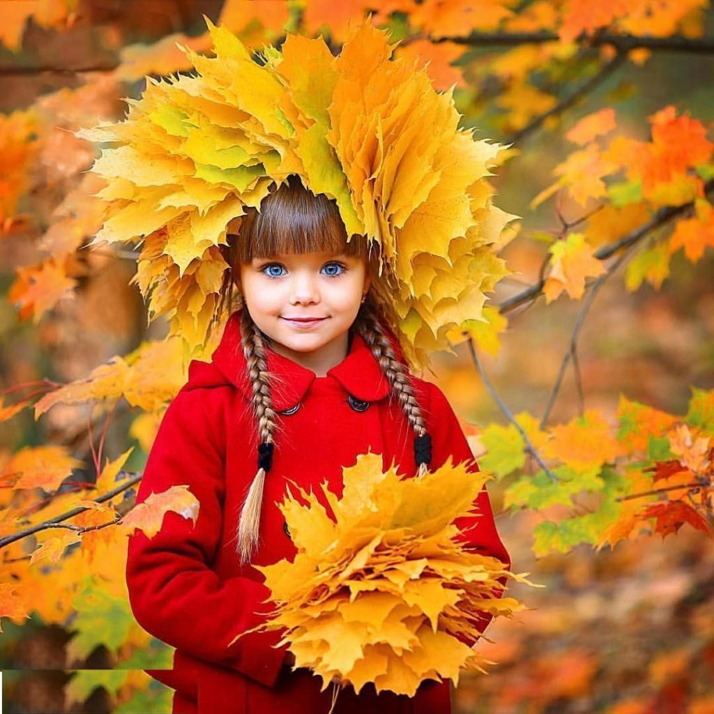مدل جدید عکس پاییزی کودک