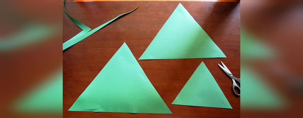 ساخت درخت کریسمس کاغذی