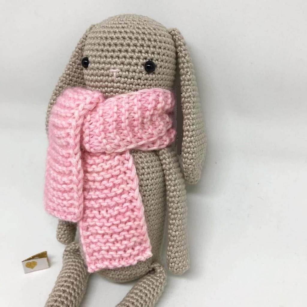 مدل عروسک بافتنی خرگوش مهربان