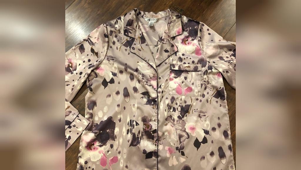 جنیفر لوپز Floral Pajama Shirt T67