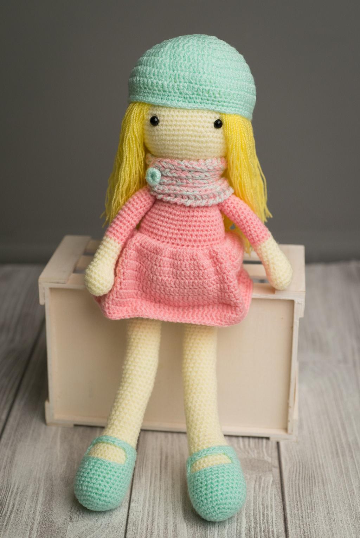 عروسک بافتنی دختر بالرین با میل