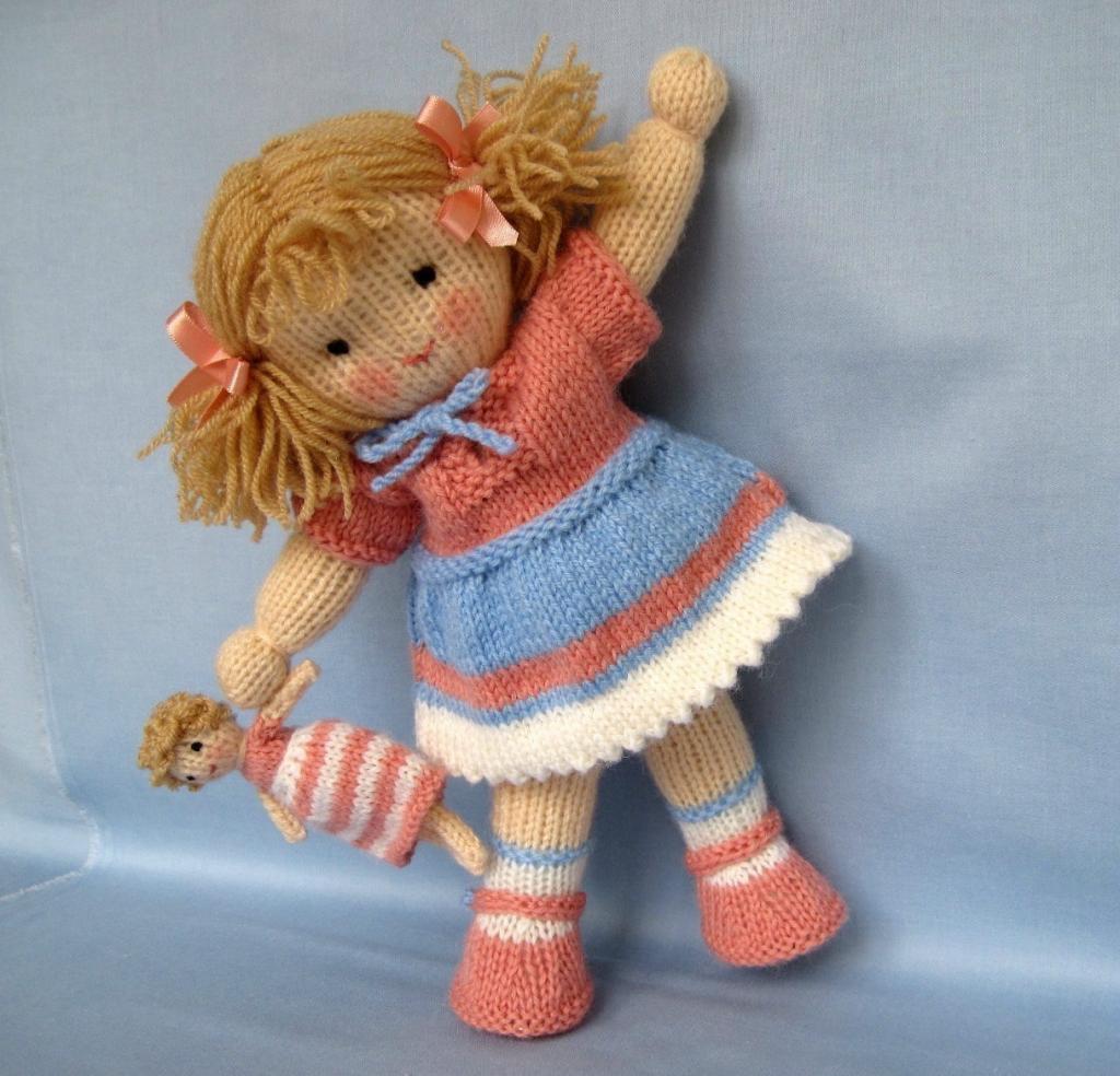 مدل عروسک بافتنی دخترانه شیک