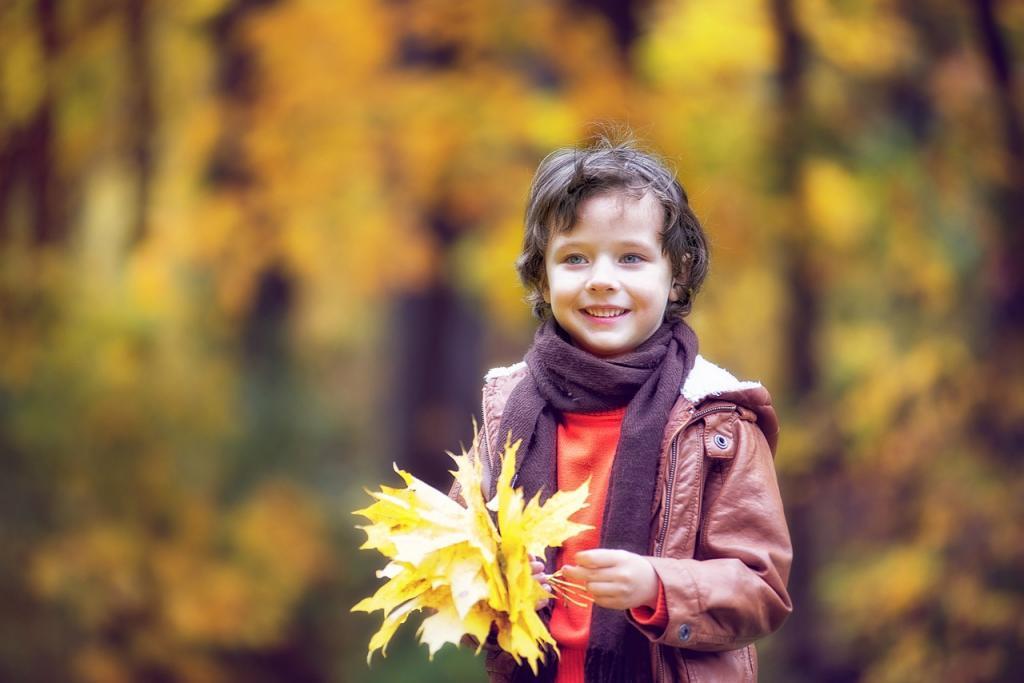 ژست عکاسی پسرانه پاییزی