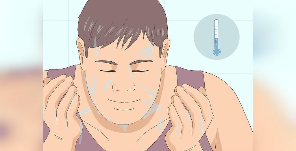 شستن صورت با آب سرد
