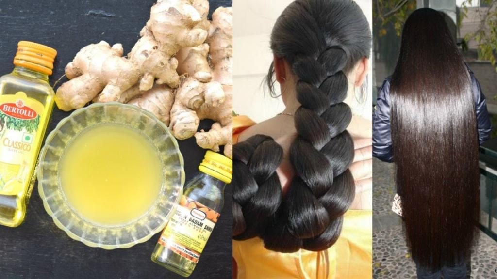 رشد مو با روغن زنجبیل