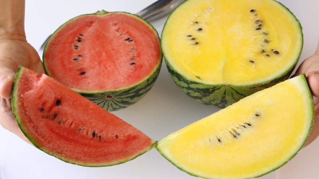تفاوت هندوانه زرد و هندوانه قرمز