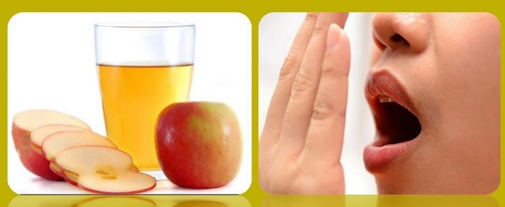 رفع بوی بد دهان با سرکه سیب