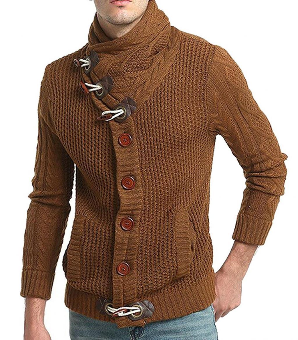 مدل لباس بافتنی مردانه با یقه جدا