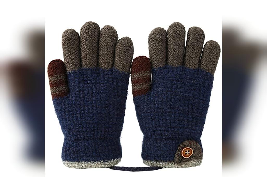 دستکش بافتنی مردانه جدید طرح ساده