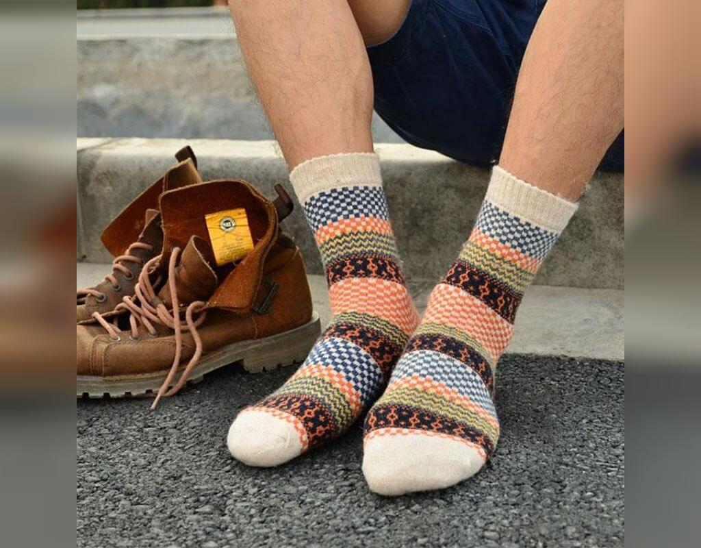 جوراب بافتنی مردانه