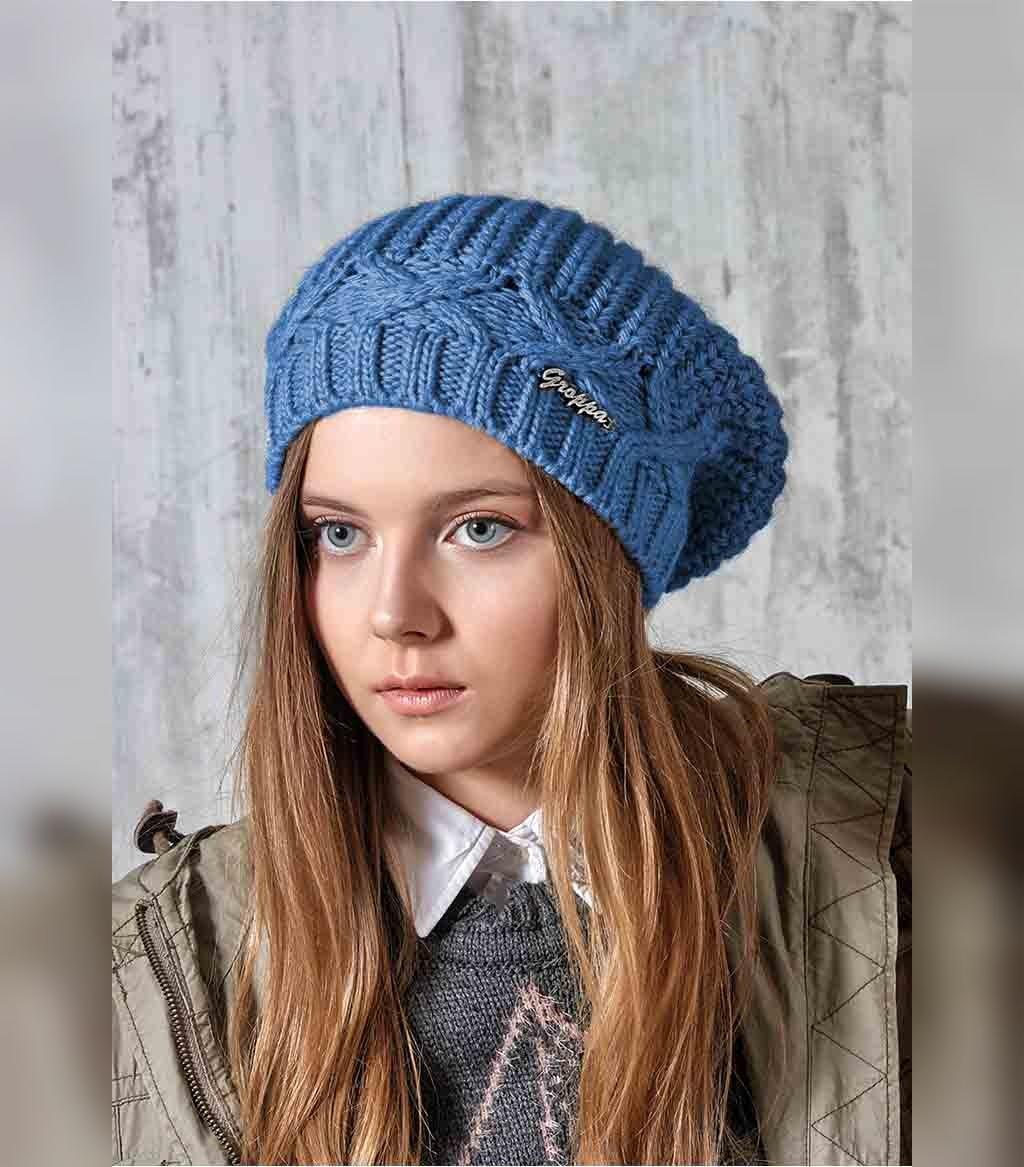 مدل کلاه بافتنی دخترانه شل