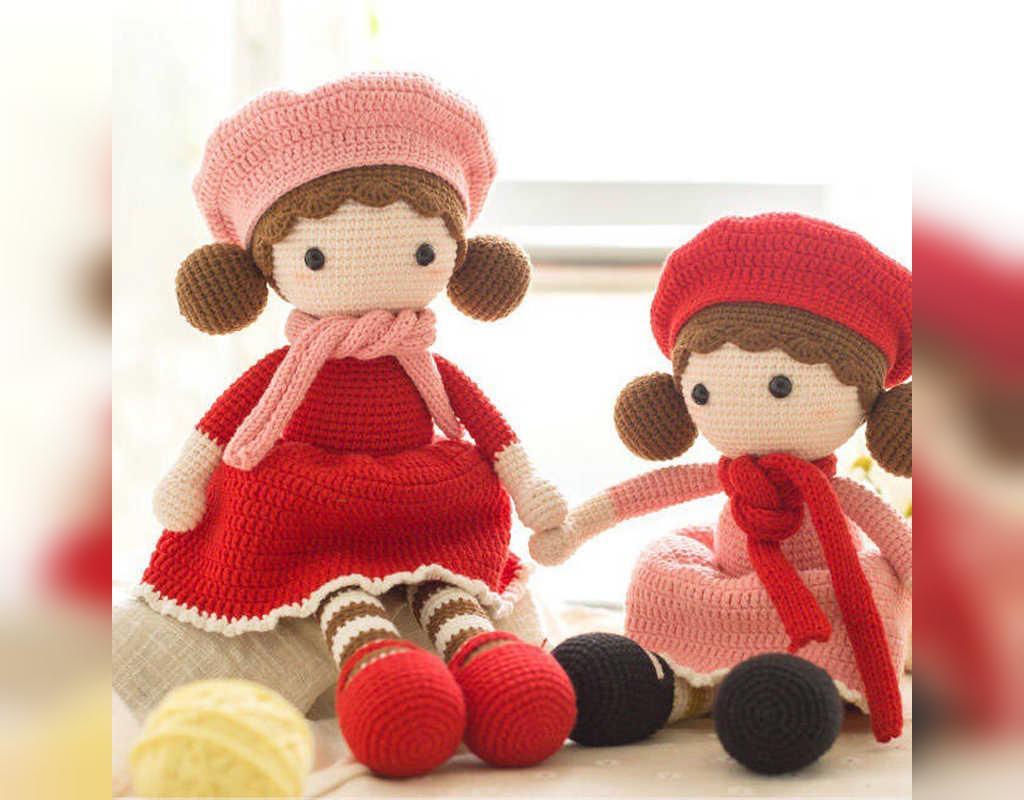 مدل عروسک بافتنی ساده دختر کوچولو ناز