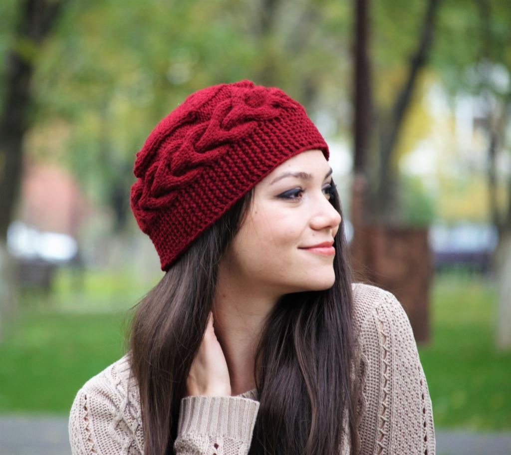 مدل کلاه بافتنی دخترانه اسپرت جدید