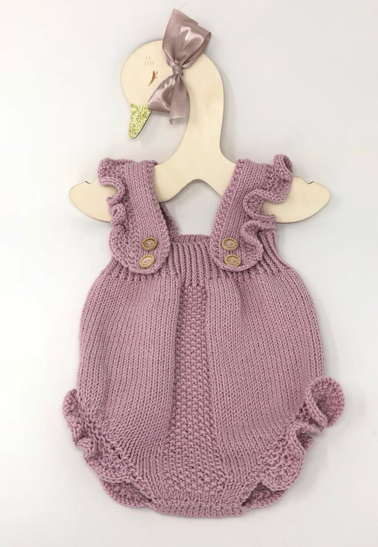 پیراهن بافتنی نوزادی