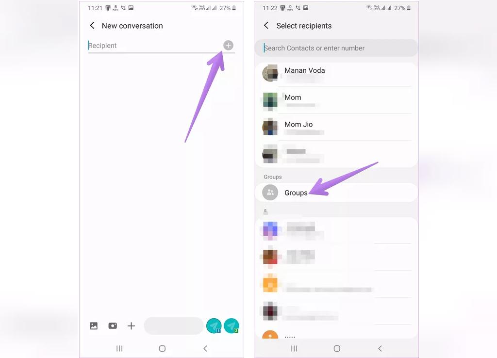 ایجاد و ارسال پیام گروهی در گوشی اندروید