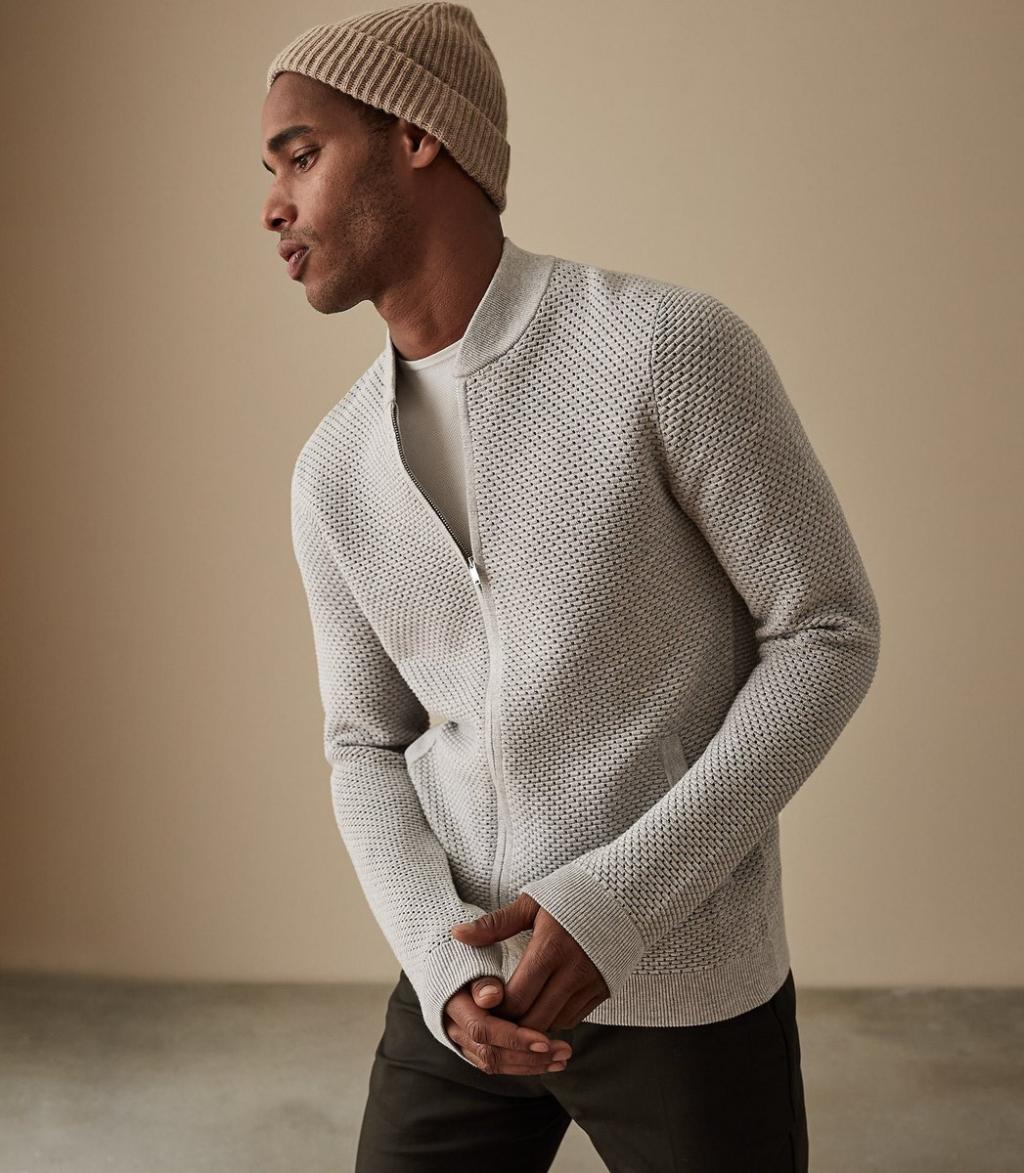 مدل لباس بافتنی مردانه طرح لانه زنبوری