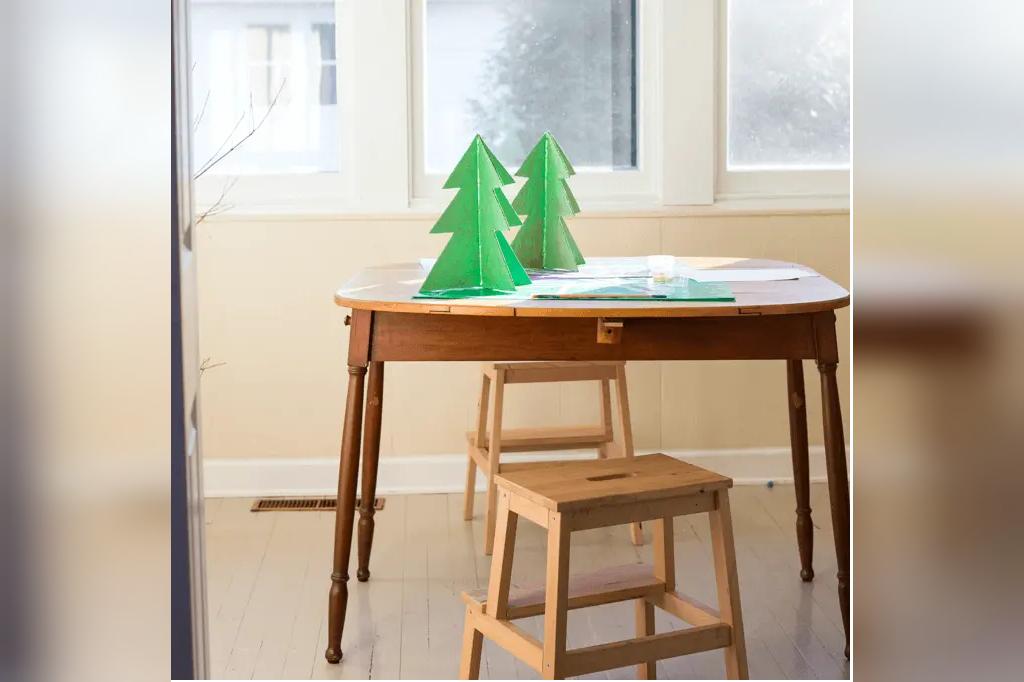 کاردستی درخت کریسمس با مقوا