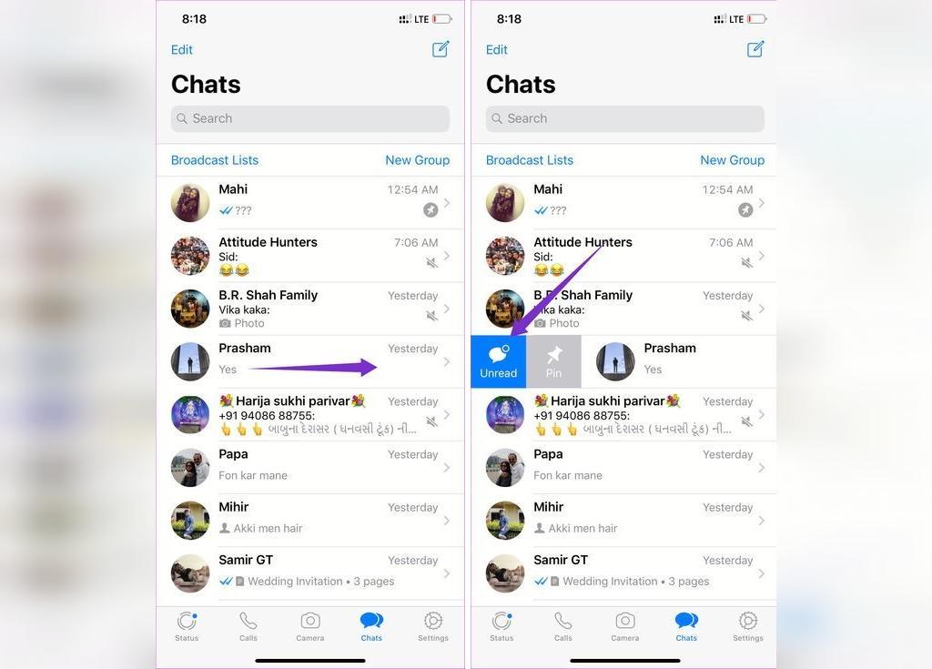 علامت گذاری خوانده شدن پیام در واتساپ برای گوشی آیفون