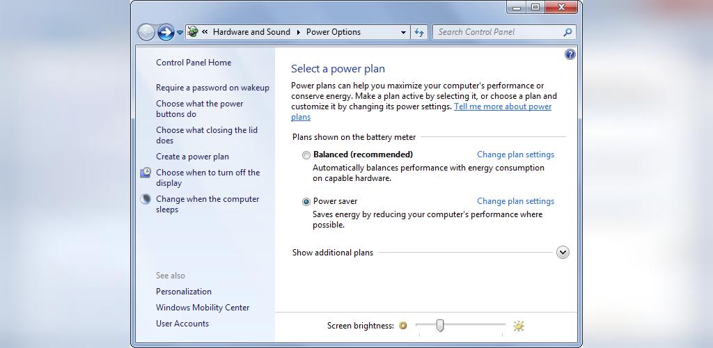 برای افزایش طول عمر باتری لپ تاپ برنامه قدرت خود/Power Plan را تغییر دهید