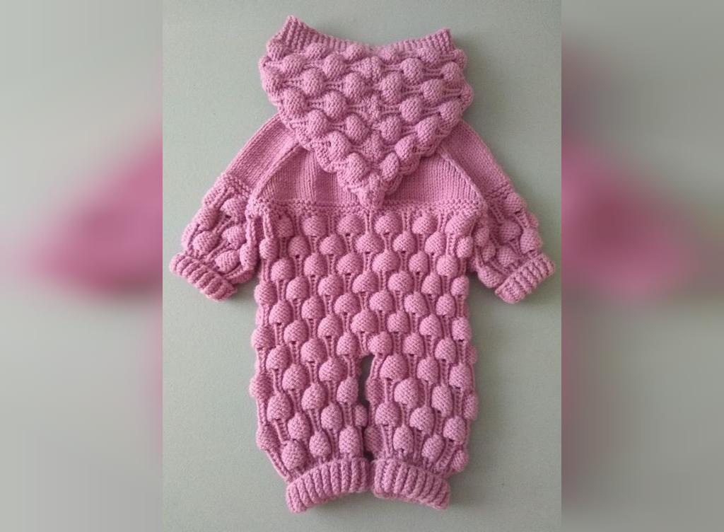 لباس بافتنی نوزاد مدل سرهمی