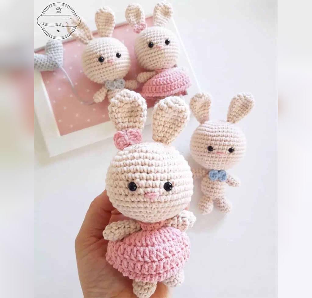 مدل عروسک بافتنی خرگوش تپلی