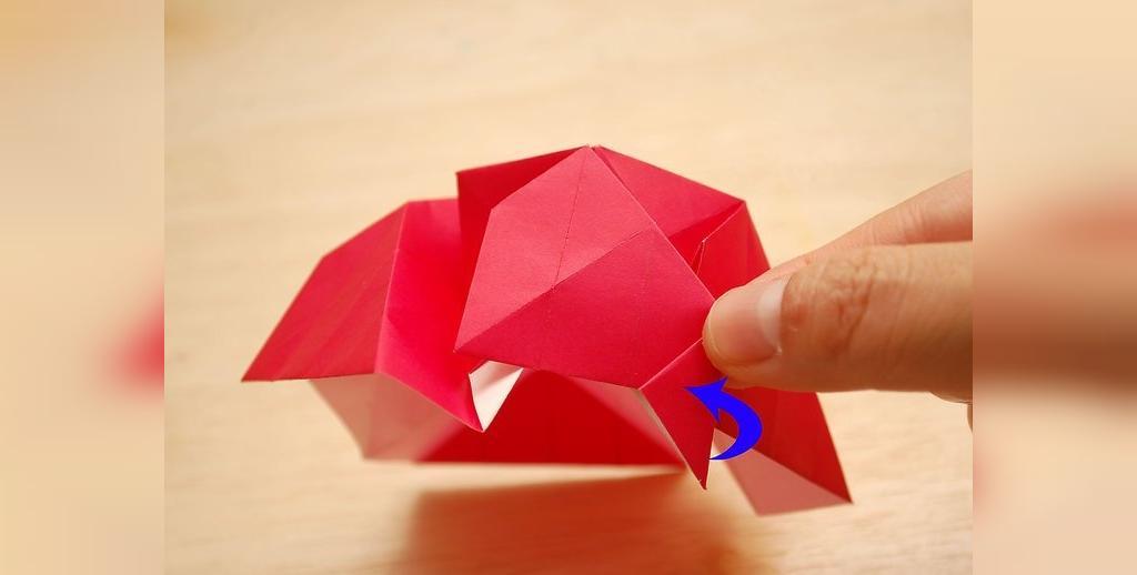 درست کردن گل رز کاغذی به صورت تصویری