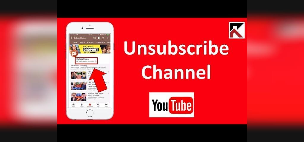 لغو اشتراک از کانال در یوتیوب