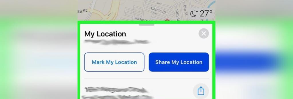 نحوه ارسال لوکیشن از طریق Apple Maps