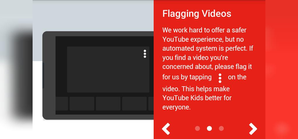 پرچم گذاری در یوتیوب کیدز