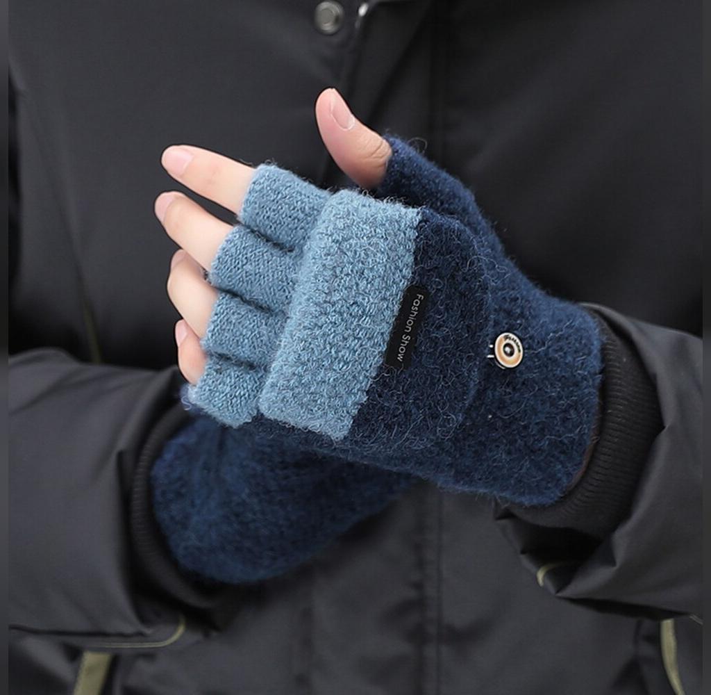 مدل دستکش بافتنی مردانه جدید بند انگشتی
